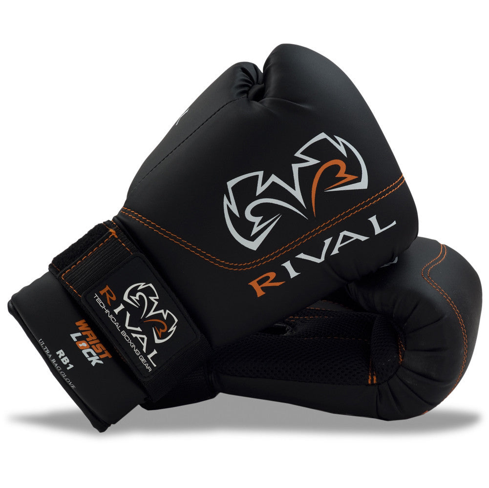 Rival Boxing Ultra Bag Gloves RB1 Black