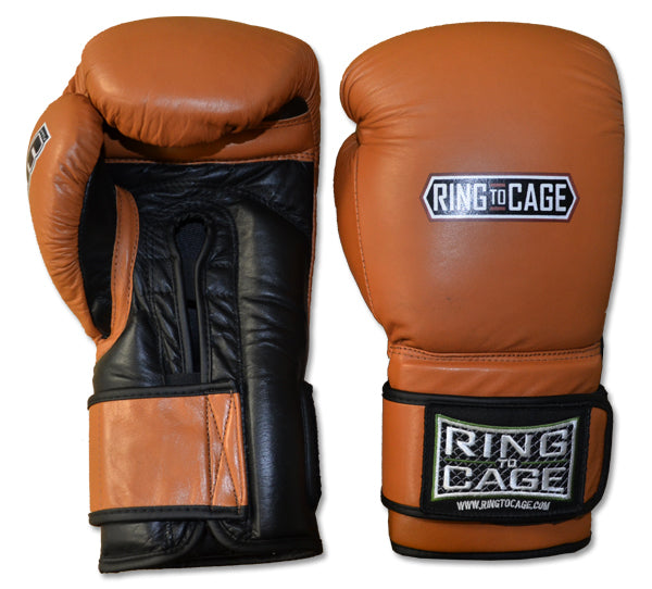 20oz Sparring Boxing Gloves Canada Ring to Cage Deluxe MiM-Foam Tan Brown