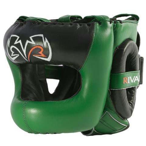 Rival Boxing Guerrero Facesaver Headgear Head Gear Guard Green/Black