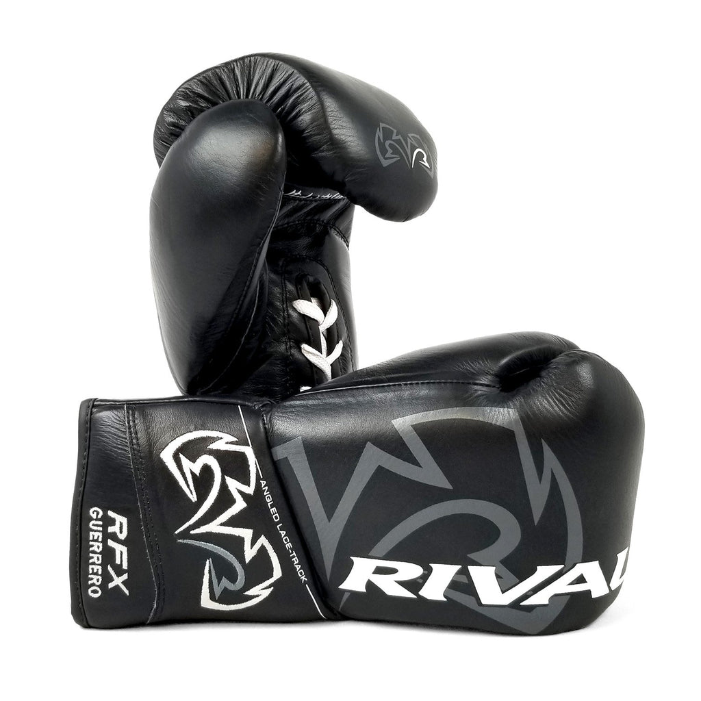 Rival Boxing RFX Guerrero Pro Fight Lace-Up Gloves Black