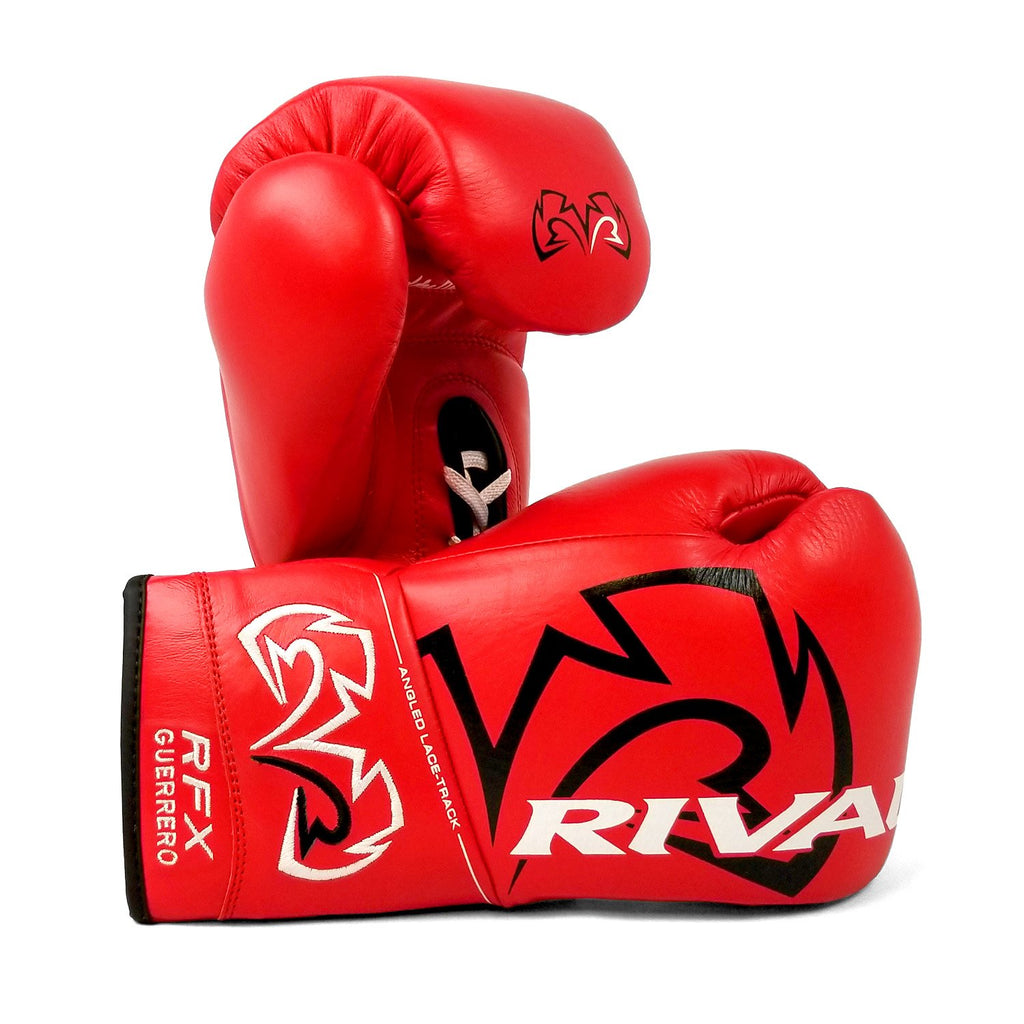 Rival Boxing RFX Guerrero Pro Fight Lace-Up Gloves Red