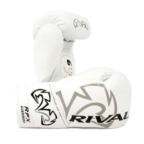 Rival Boxing RFX Guerrero Pro Fight Lace-Up Gloves White