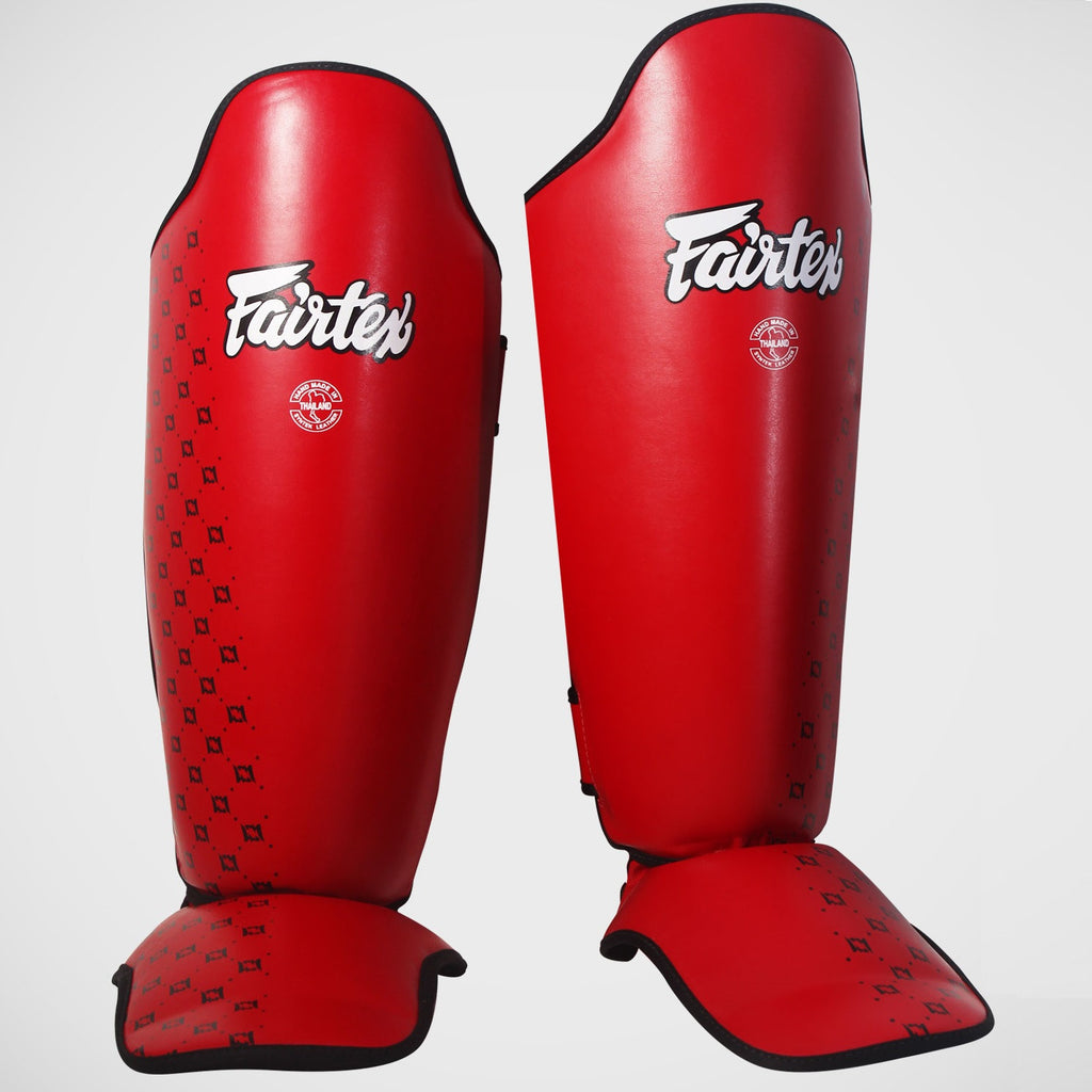 Fairtex SP5 Competition Shin Guards Instep Red