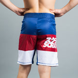 Scramble RWB Grappling Jiu Jitsu BJJ MMA Fight Shorts