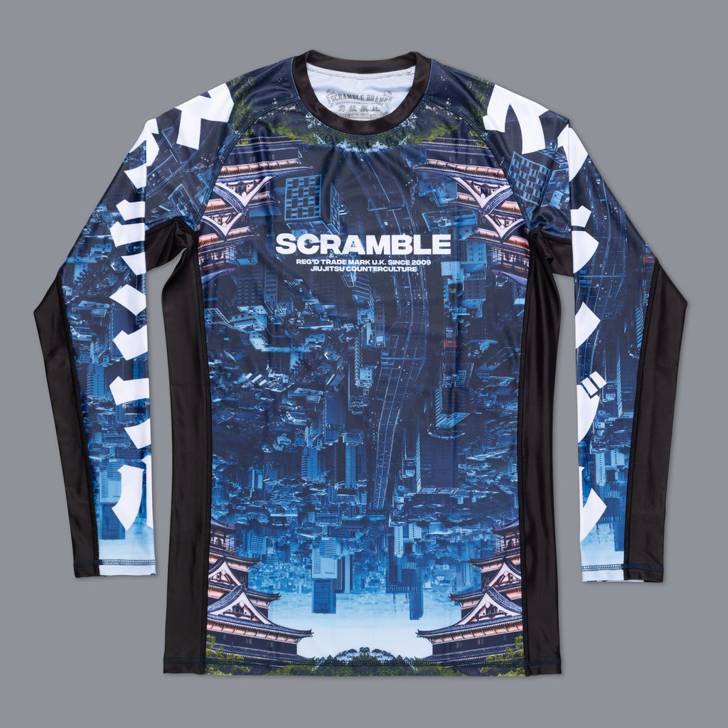 Scramble Brand Edo Rashguard Rash Guard Compression Shirt