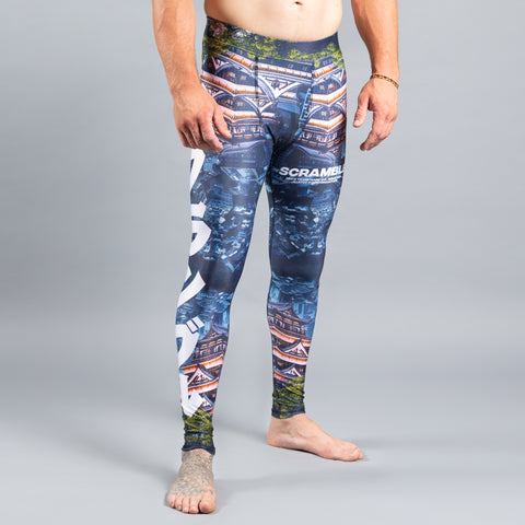 Scramble Brand Edmonton Edo Grappling Spats Compression Pants Leggings