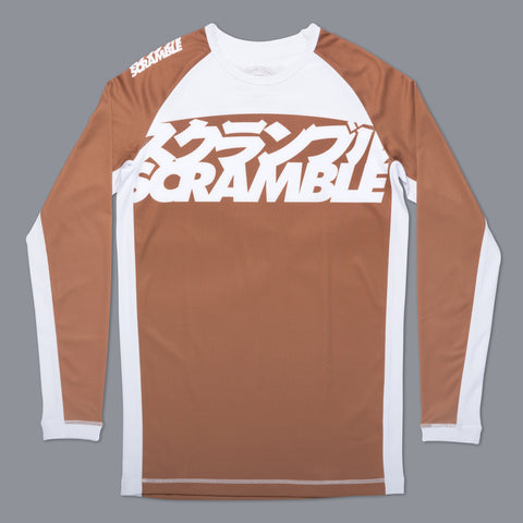 Scramble Brand V3 Brown Ranked Rashguard Rash Guard