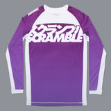 Scramble Brand V3 Purple Ranked Rashguard Rash Guard