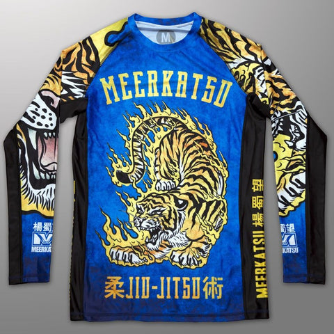 Meerkatsu Rash guard Canada Fire Tiger Rash Guard