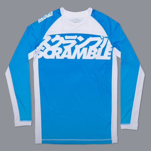 Scramble Jiu Jitsu Gear Edmonton V3 Blue Ranked Rashguard Rash Guard