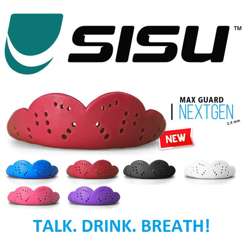 SISU Max Mouthguard Edmonton Combat Sports Rated 2.4mm High Impact Various Colours