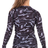 Tatami Fightwear Kids Rival Camo Black Compression Rash Guard Rashguard