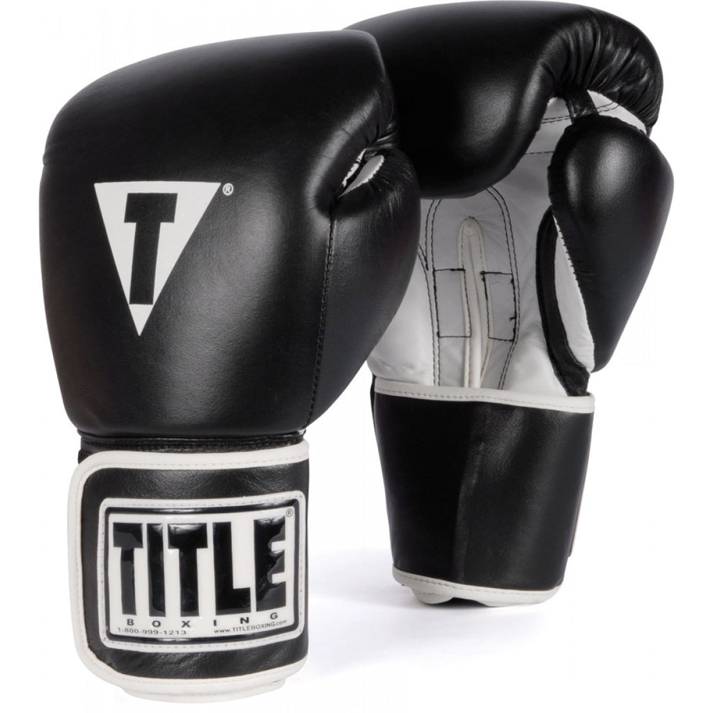 Title Boxing 3.0 Pro Style Leather Boxing Gloves Black