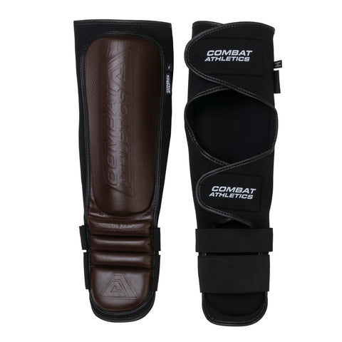 Tatami Fightwear Combat Athletics Vintage Brown MMA Shin Guards