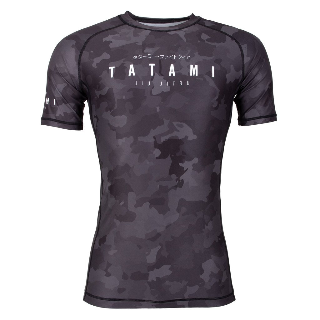Tatami Fightwear Stealth Grey Camo Short Sleeve Rash Guard Rashguard