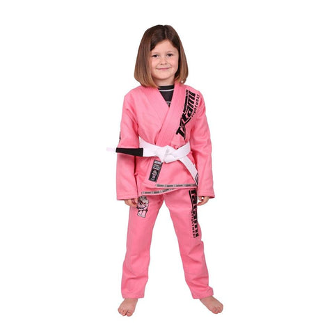 Tatami Fightwear Edmonton Childrens/Kids Meerkatsu Pink Animal Gi