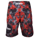 Tatami Fightwear BJJ Jiu Jitsu Red Camo Black Fight Shorts