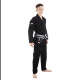 Tatami Fightwear Edmonton Childrens/Kids Roots Jiu Jitsu Gi Black FREE White Belt