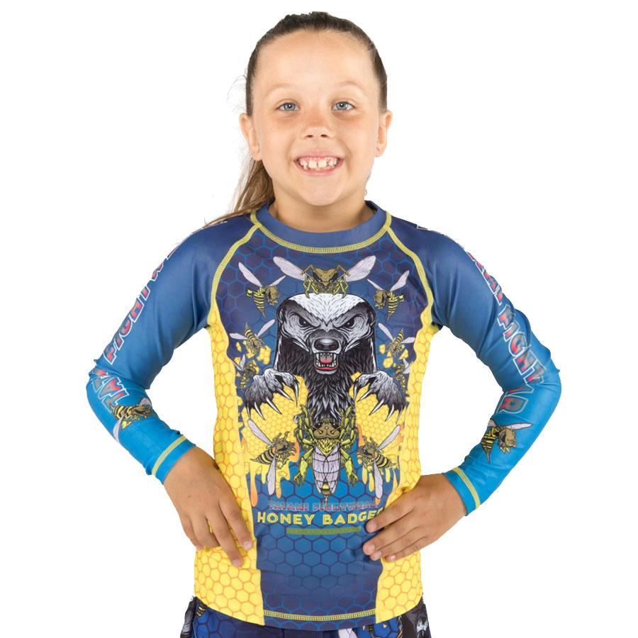 Tatami Fightwear Kids Youth Meerkatsu Honey Badger Rash Guard Rashguard