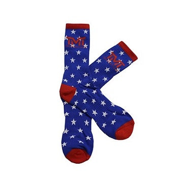 TMT The Money Team Money Dreams Boxing Socks Blue/Red