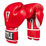 Title Boxing Boxeo Mexican Leather Training Gloves Red