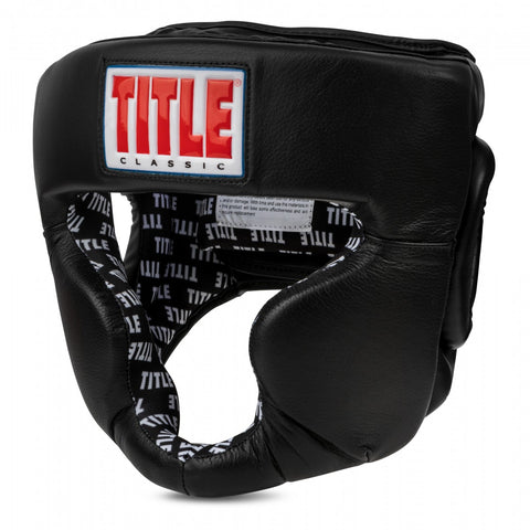 Title Boxing Full Face Headgear Head Gear Guard Black