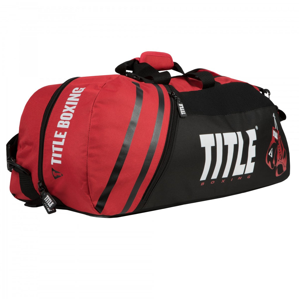 Title Boxing Champion 2.0 Sports Convertible Duffle Gym Bag/Backpack Red