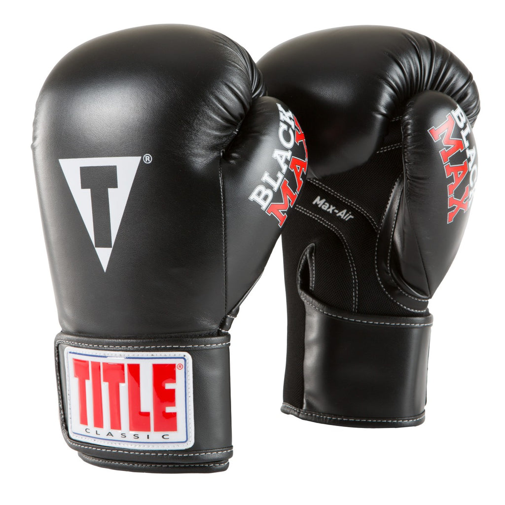 Title Boxing Max Black Kids Youth Boxing Gloves