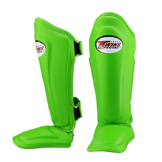 Twins Special Shin Guards Canada Double Padded SGS-10 Lime Green