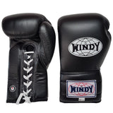 Windy BGL Lace-Up Muay Thai Boxing Gloves Black