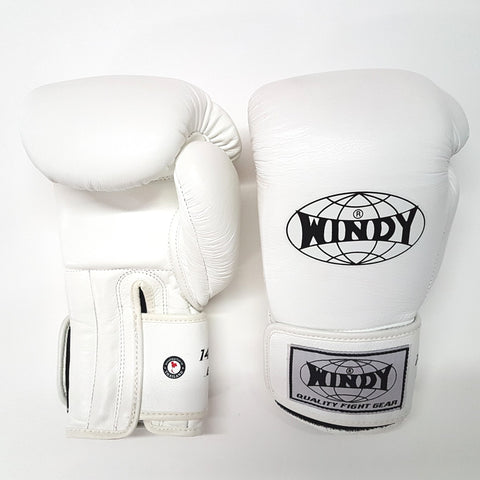 Windy BGP Muay Thai Boxing Gloves White