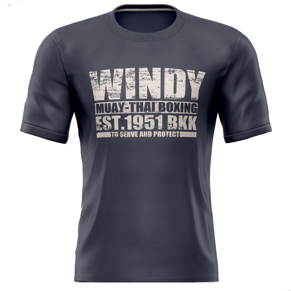 Windy Muay Thai Grey Short Sleeve T-Shirt