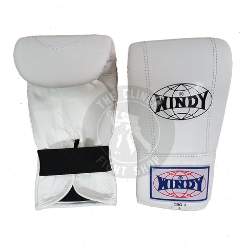 Windy Muay Thai Gear Edmonton Style Bag Boxing Gloves TBG-1 White