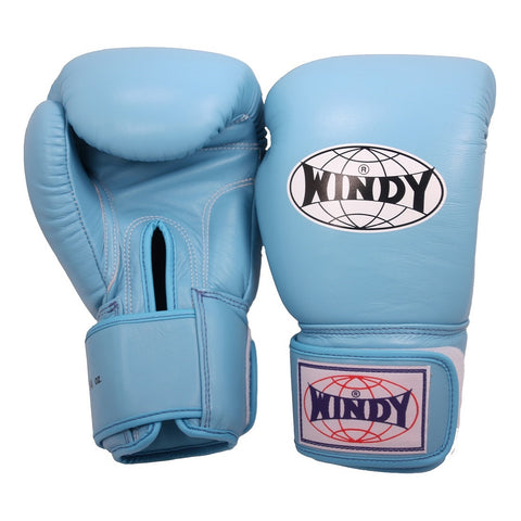 Windy Muay Thai Boxing Gloves Light Baby Blue