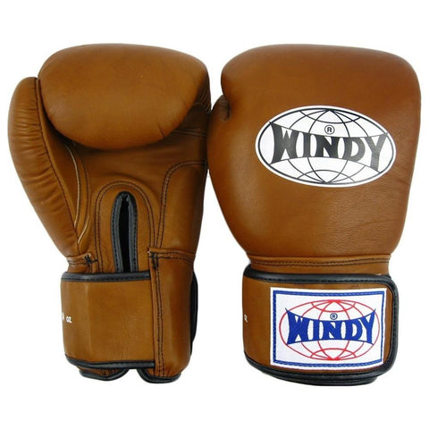 Windy Muay Thai Boxing Gloves Canada Premium Brown Leather