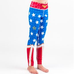 Fusion Fight Gear Kids Youth Wonder Woman Kids Leggings Spats Pants