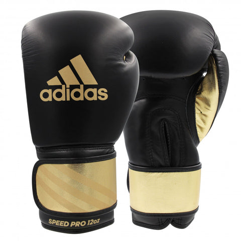 Adidas Adi-Speed 350 Pro Boxing Gloves Black/Gold (18oz only left)