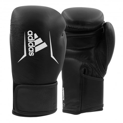 Adidas Boxing Speed 175 Genuine Leather Boxing Gloves Black