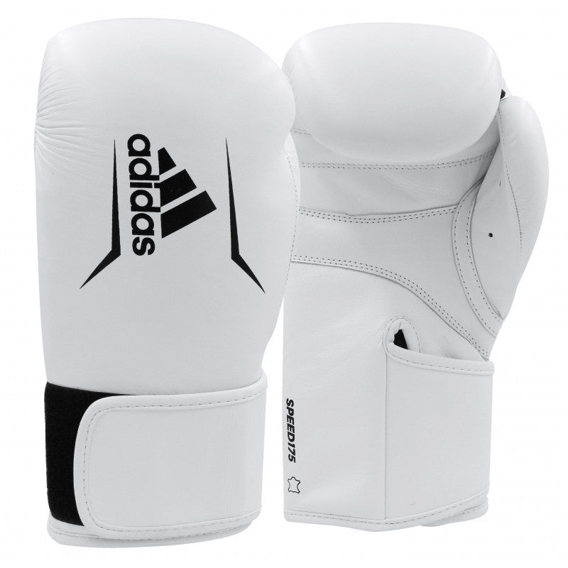 Adidas Boxing Speed 175 Genuine Leather Boxing Gloves White
