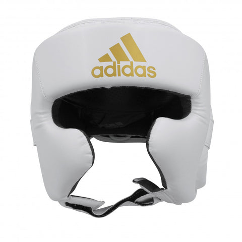 Adidas Boxing Super Pro Boxing Headgear Head Gear White/Gold