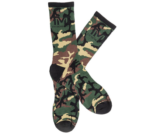 TMT The Money Team Untouchable Boxing Socks Camo Brown