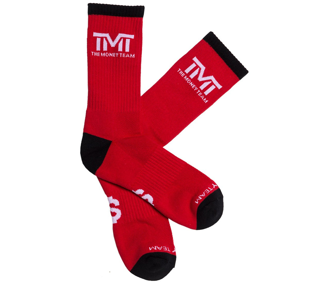TMT The Money Team Untouchable Boxing Socks Red/Black