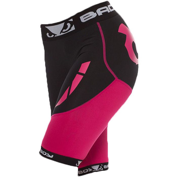 Bad Boy Womens Sphere Compression Shorts Black/Pink