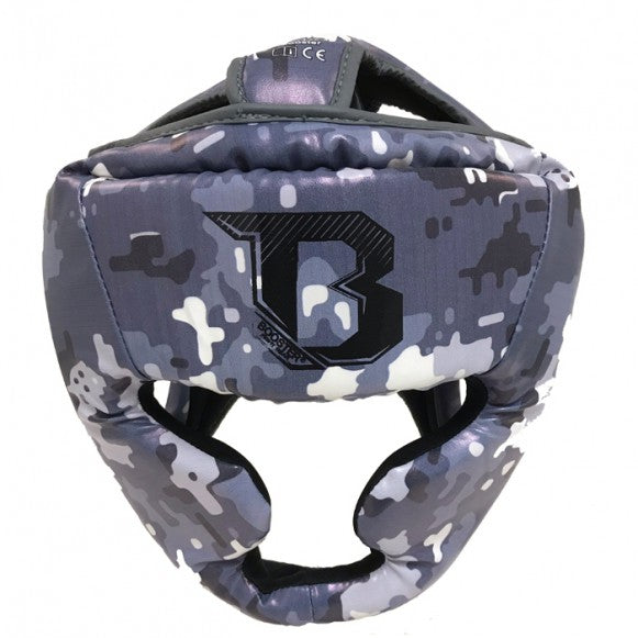 Booster Fight Gear Canada Kids Youth Headgear Guard Camo Grey/Blue