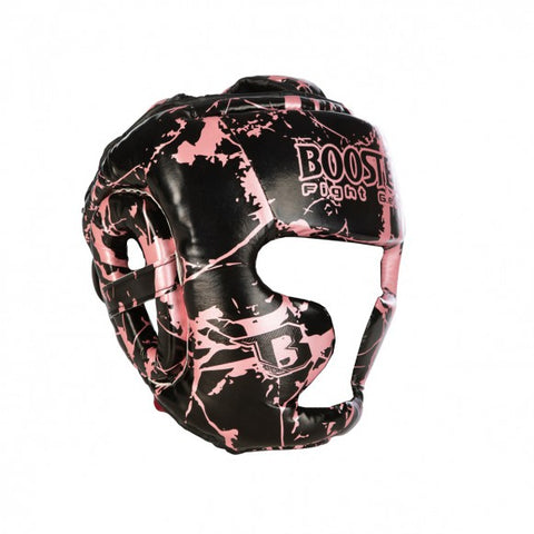 Booster Fight Gear Kids Youth Headgear Canada Guard Marble Pink