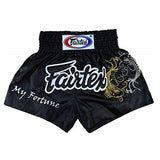 Fairtex Muay Thai Shorts BS0639 Black My Fortune Koi Canada