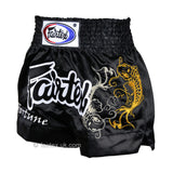 Fairtex Muay Thai Shorts BS0639 Black My Fortune Koi