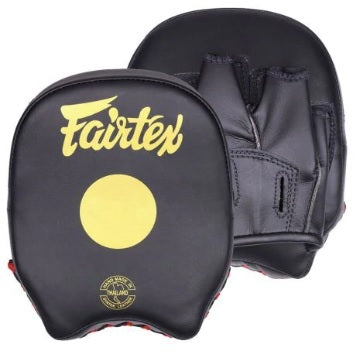 Fairtex canada FMV14 Micro Focus Mitts edmonton Short Punch Pads Black/Gold