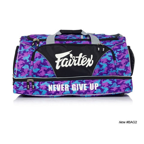 Fairtex Edmonton BAG2 Gym Duffle Bag - Camo Purple