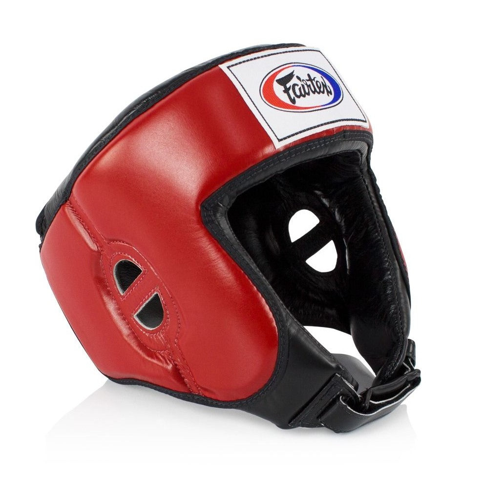Fairtex canada HG9 Open Face Competition Headgear Head Gear Red